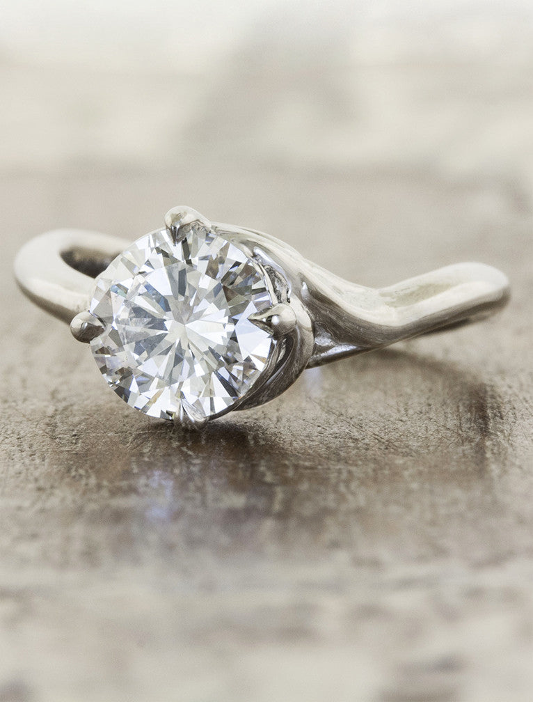 nature inspired engagement ring - Kalyssa caption:1.25ct. Round Diamond Platinum