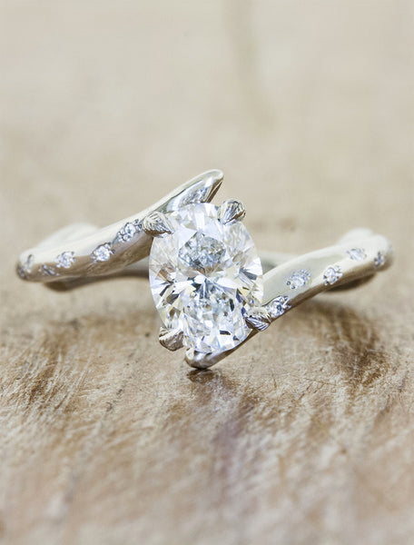 pave band diamonds romm bridal diamond maevona rings tiree engagement and ring with asymmetrical