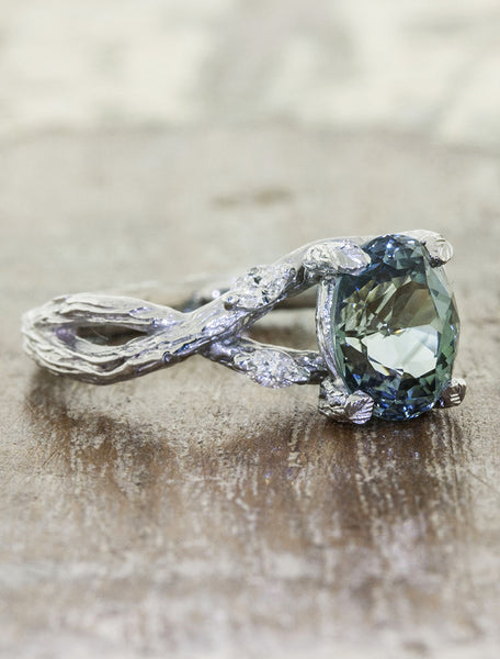 earthy nature inspired engagement ring - Nature Inspired Wedding Rings