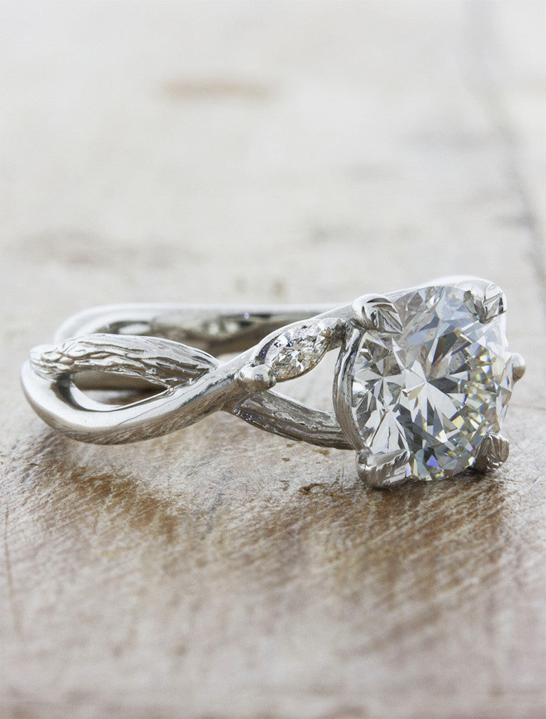 unique engagement rings nature inspired split band