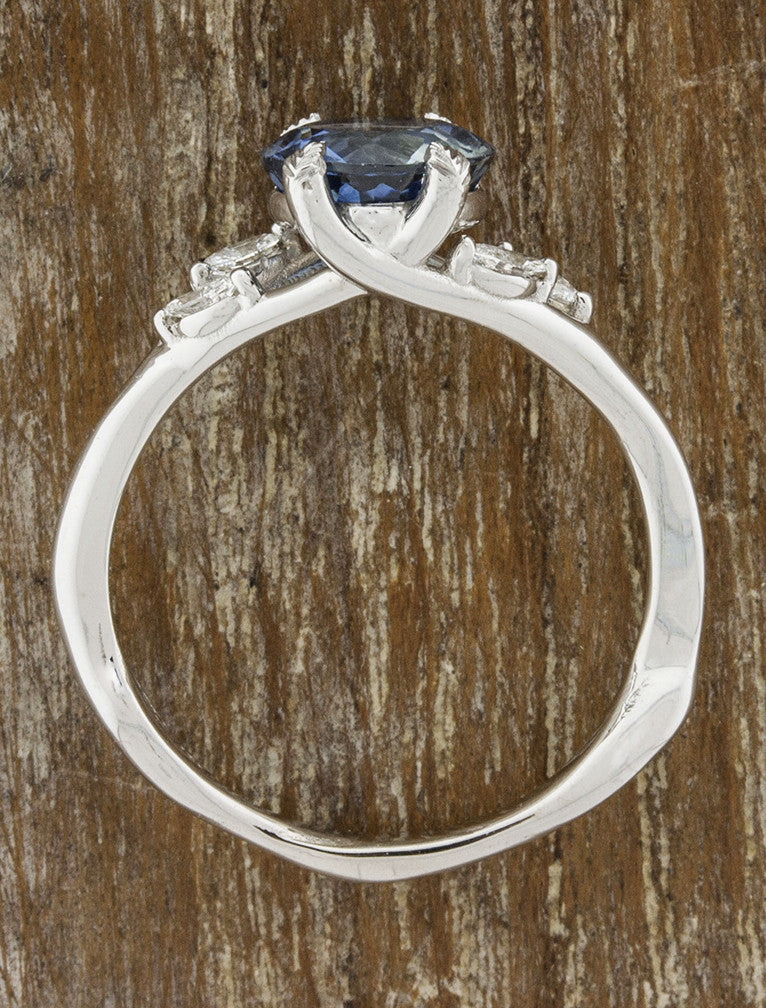 Nature inspired Montana Sapphire engagement rings