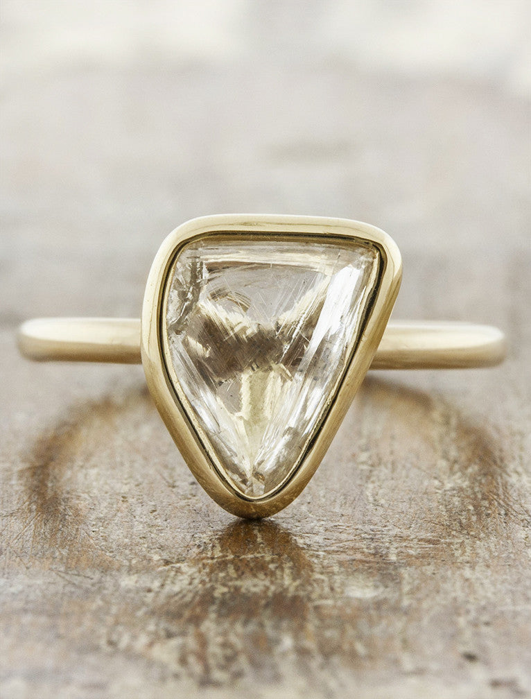 Unique engagement rings -rough caption:1.66ct. Diamond Maccle 14k Yellow Gold