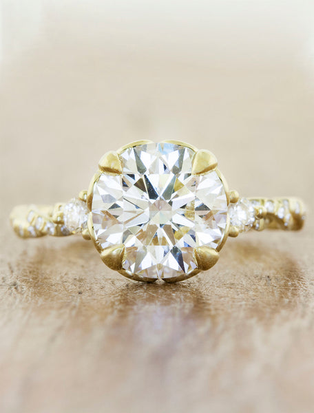 Shanel caption:1.75ct. Round Diamond 14k Yellow Gold