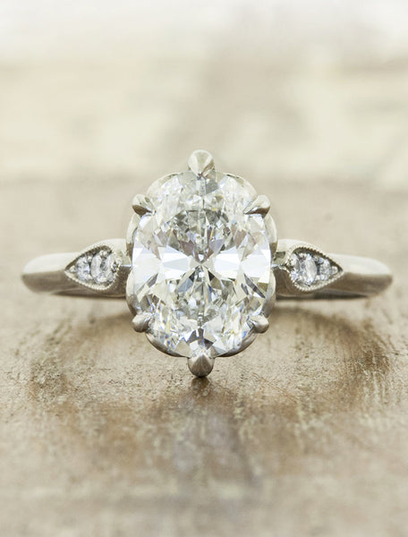Vintage inspired designs;caption:1.50ct. Oval Diamond 14k White Gold