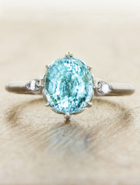 oval cut paraiba engagement ring