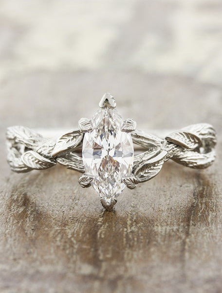 tree bark infinity band diamond ring