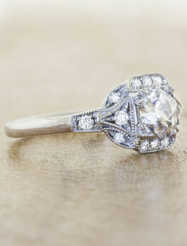 Vintage inspired antique inspired engagement rings ken dana kimberly kimberly junglespirit Image collections