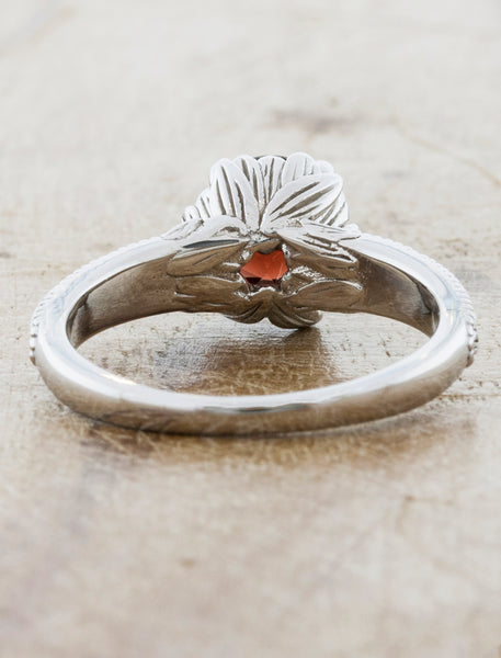 Nature Inspired Engagement Ring featuring Castilleja Flower Design