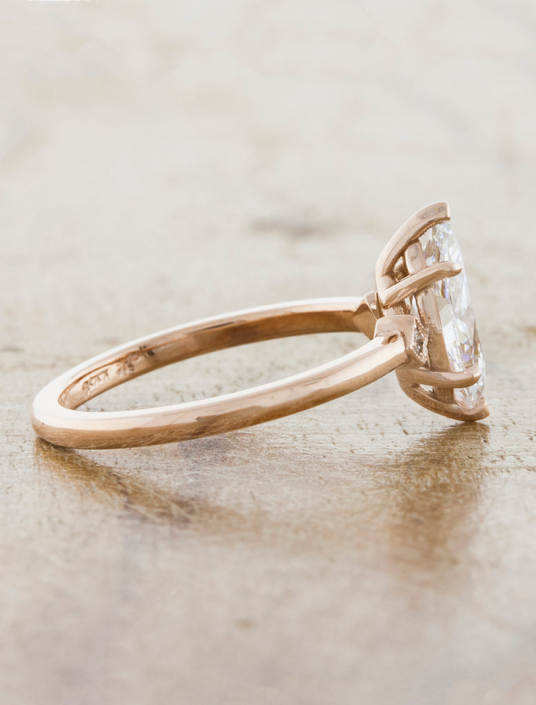 Marquise Diamond Ring in Rose Gold