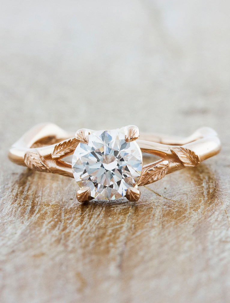 Pembroke caption:0.94ct. Round Diamond 14k Rose Gold