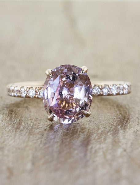 Unique sapphire engagement rings;caption:1.50ct. Oval Sapphire 14k Rose Gold