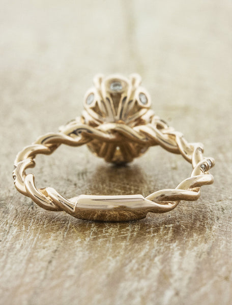 delicate twisted engagement band