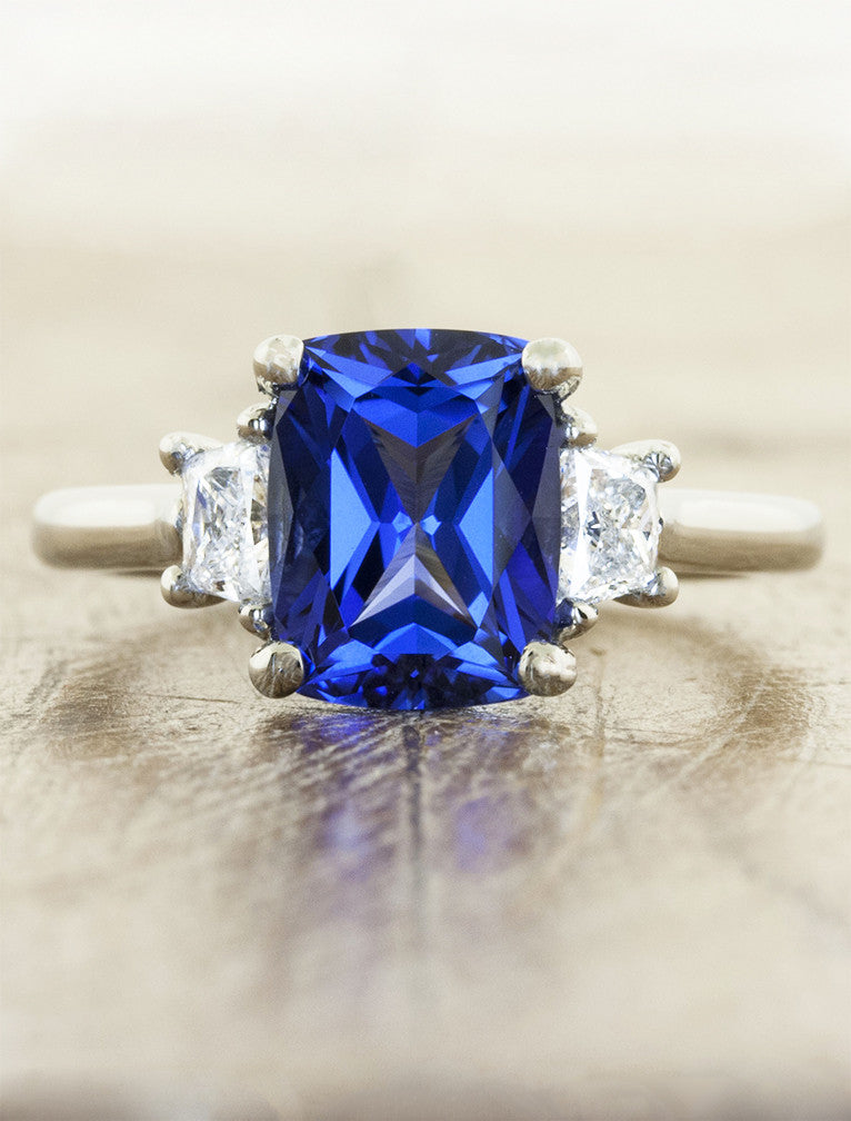 Alamina Lab Created Blue Sapphire Engagement Ring Ken
