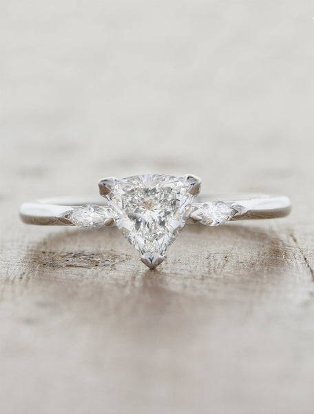 Modern Trillion Cut Diamond Engagement Ring