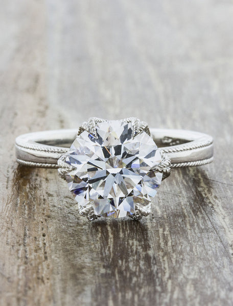 Solitaire unique vintage inspired engagement rings