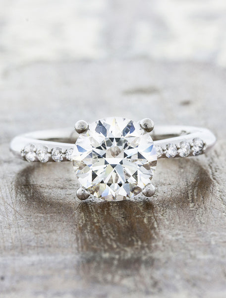 Vintage Inspired Round Diamond engagement ring