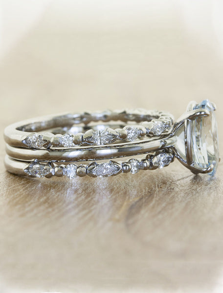 Vintage Inspired Aquamarine Engagement Ring