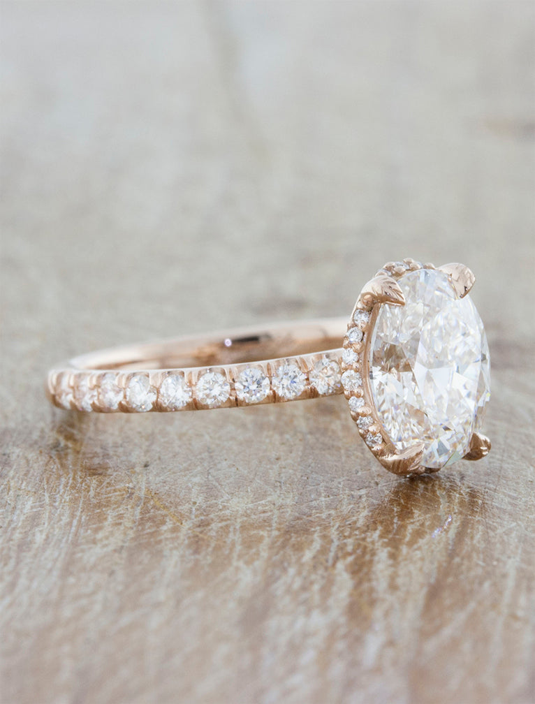 Lab Created Diamond Engagement Rings Rose Gold