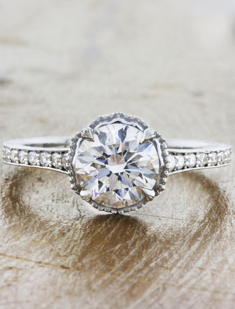Vintage inspired antique inspired engagement rings ken dana pearly pearly junglespirit Image collections