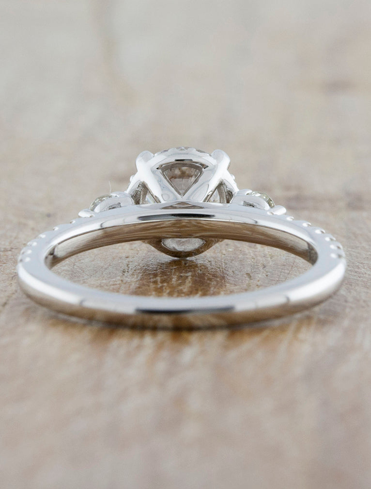 Multi-Stone Vintage Inspired Engagement Ring