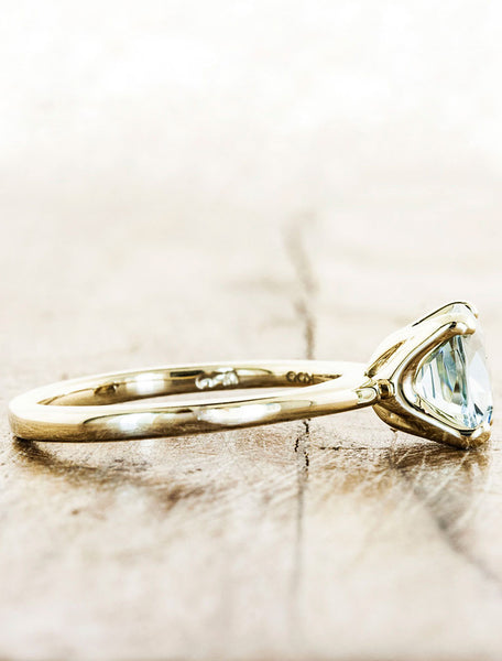 Unique Aquamarine Engagement Rings by Ken & Dana Design - Winifred purple sapphire