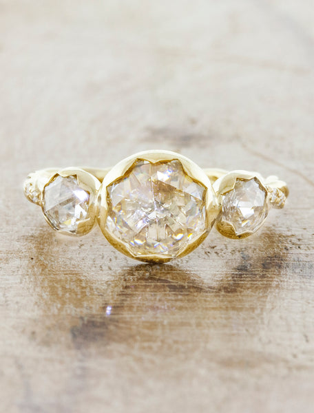 caption:Customized with larger diamonds.  Shown in yellow gold.