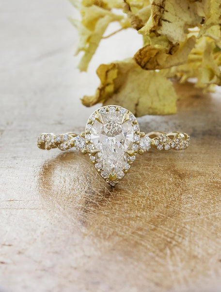 caption:1.00ct. Pear Diamond  14k Yellow Gold