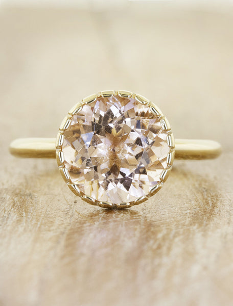 round morganite engagement ring in rose gold