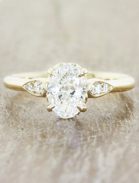 Vintage inspired designs;caption:1.20ct. Oval Diamond 14k Yellow Gold