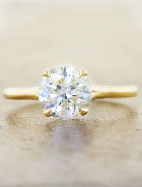 1.16ct Round Diamond 14K Yellow Gold