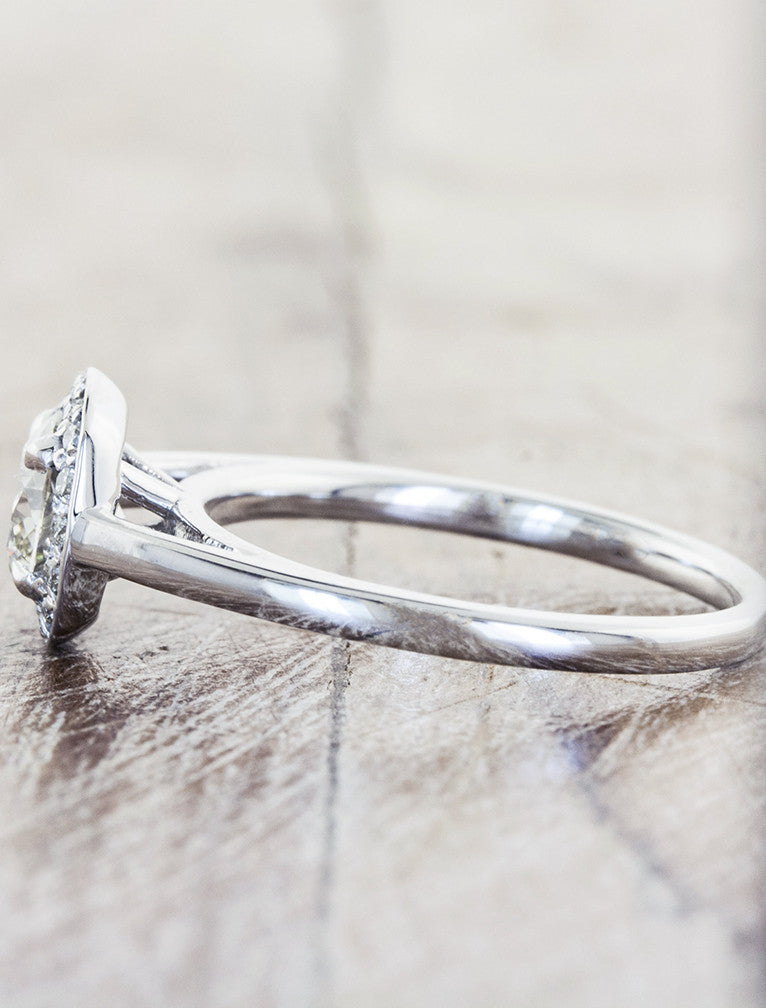 Unique Engagement Rings by Ken & Dana Design - Harlow side view