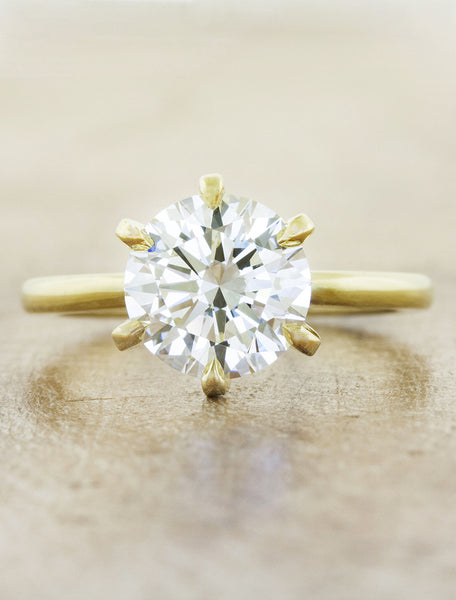 Classic solitaire - Ariya caption:1.75ct. Round Diamond 14k Yellow Gold