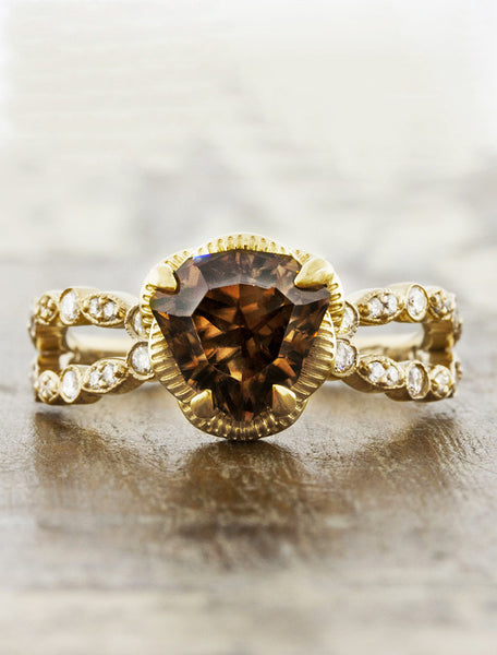 smoky topaz engagement ring