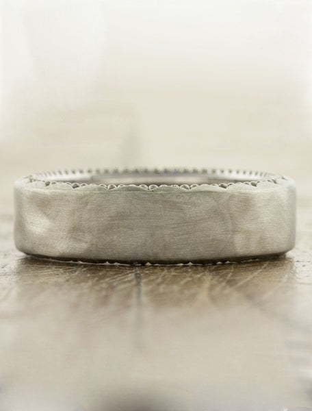 beaded textured wedding band