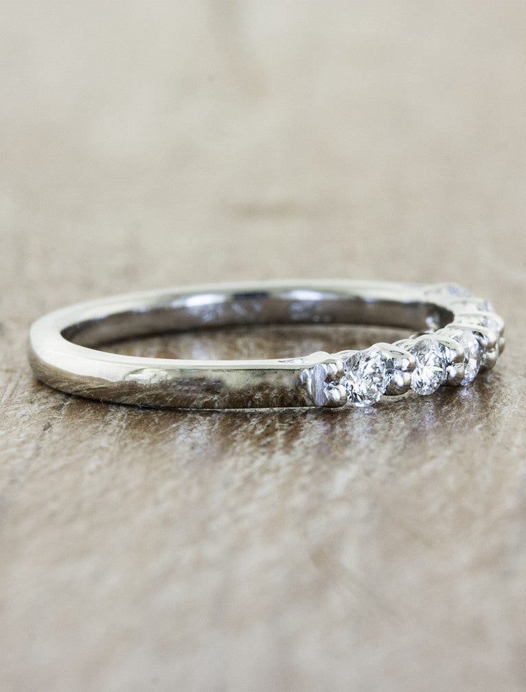six diamond wedding band