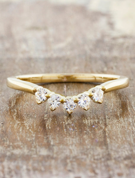 Vintage Inspired Diamond Mobius Strip Wedding Band