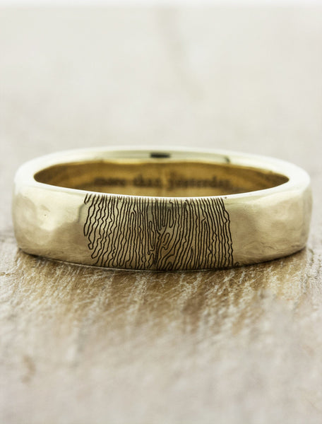 custom fingerprint wedding band