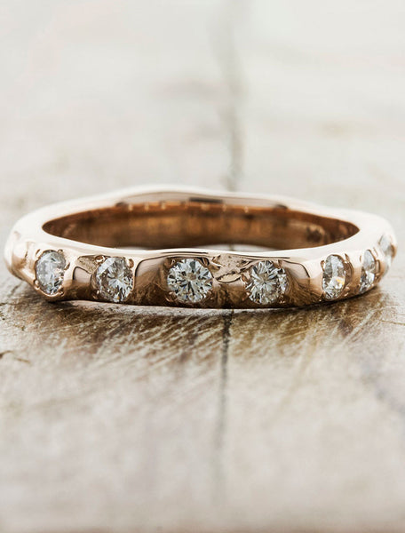 Organic Wedding Bands by Ken & Dana Design - Clio rose gold