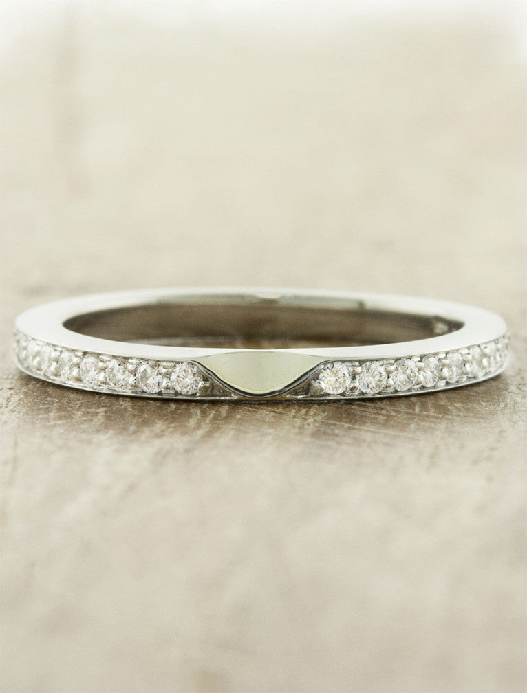classic 1.8mm wide diamond wedding band