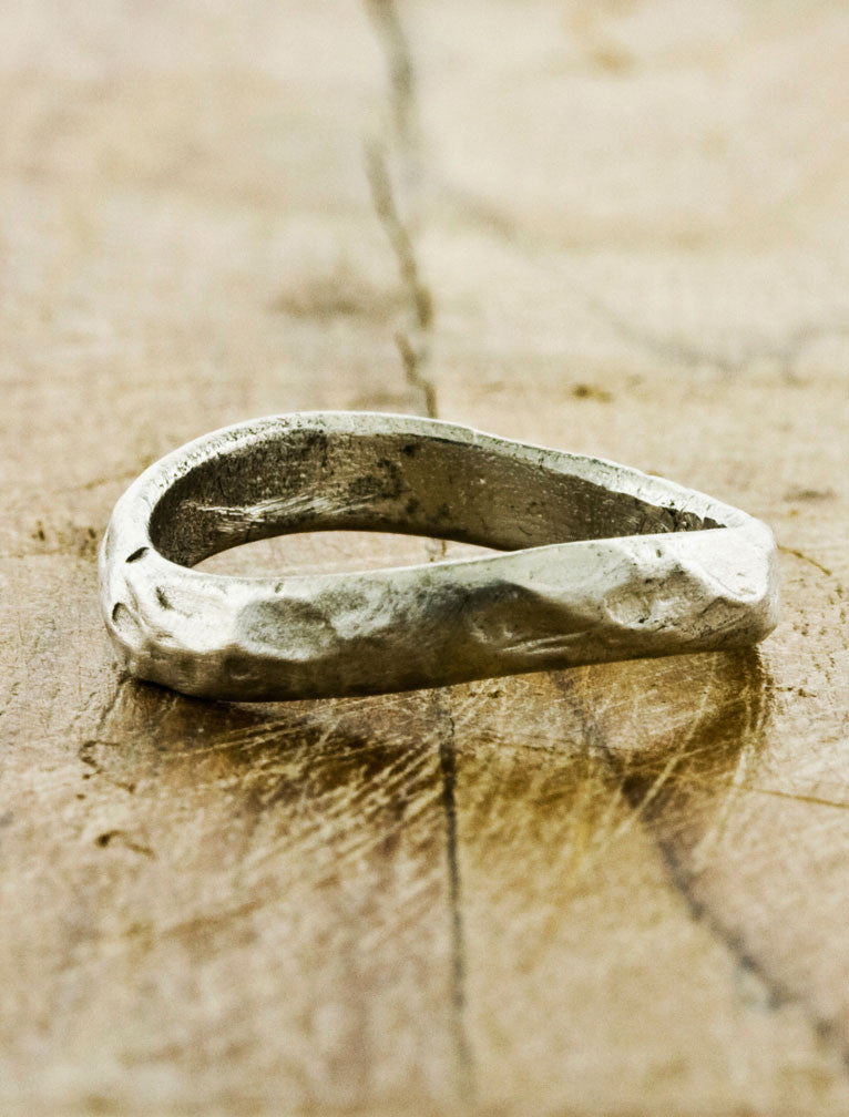 Organic Textured Wedding Bands by Ken & Dana Design - Oasis