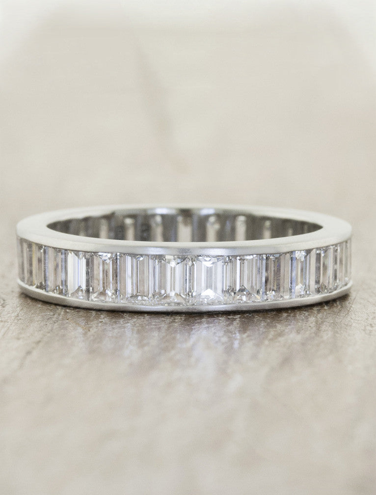 modern eternity band baguette diamond ring