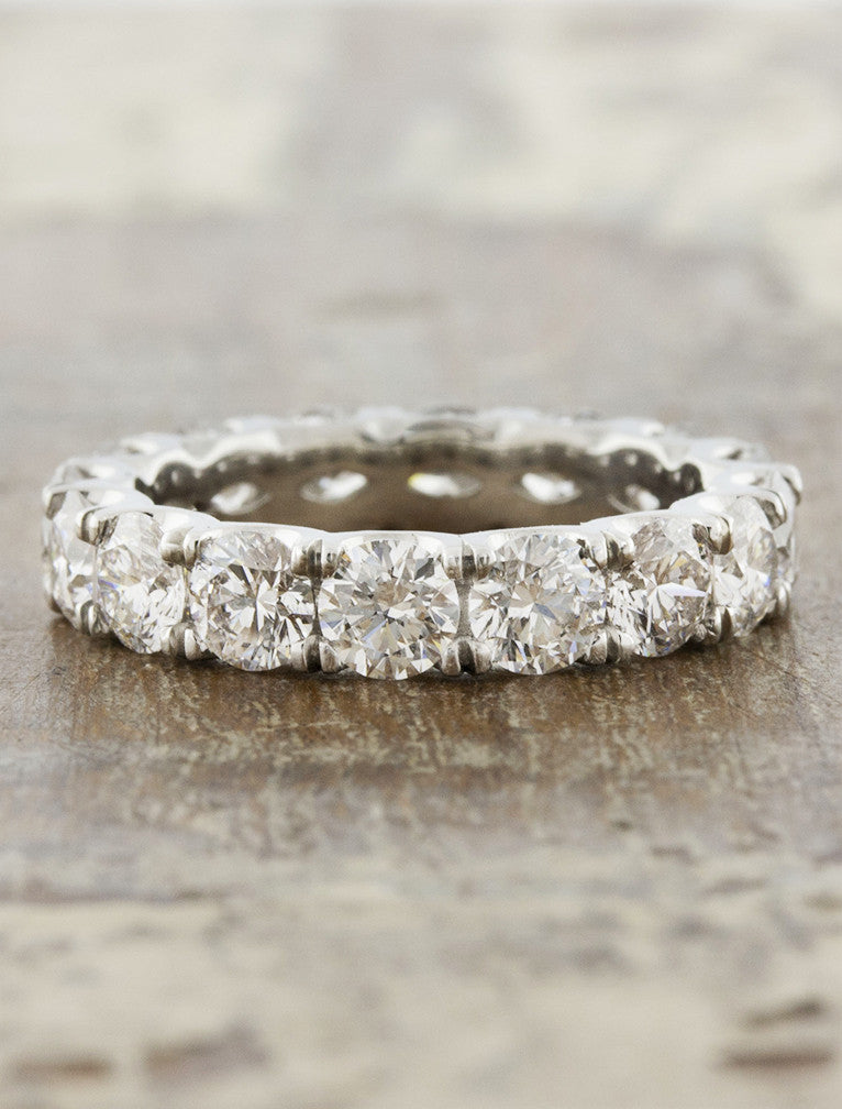 4mm wide diamond eternity band