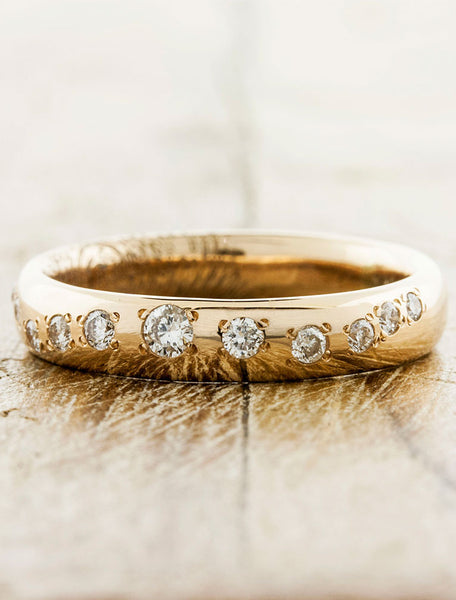 custom fingerprint wedding band set - women's ring