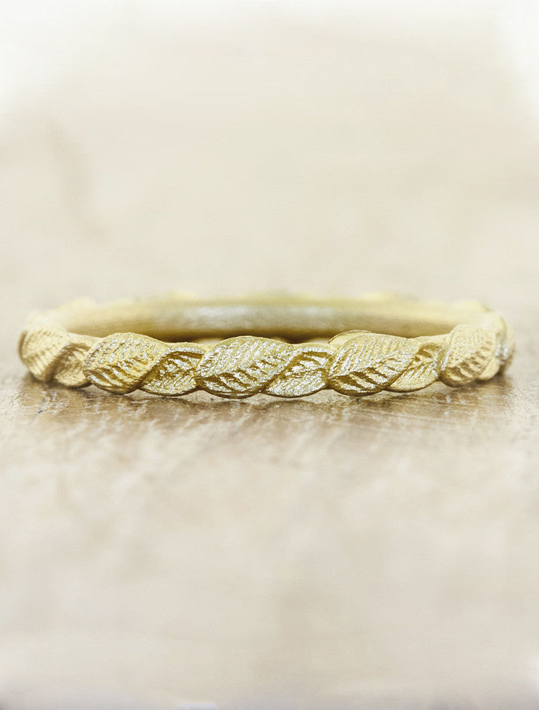 Briar Gold Overlapping Leaf Ring Ken Amp Dana Design