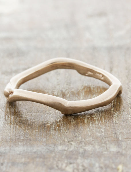 organic, natural shaped weding band - rose gold variation