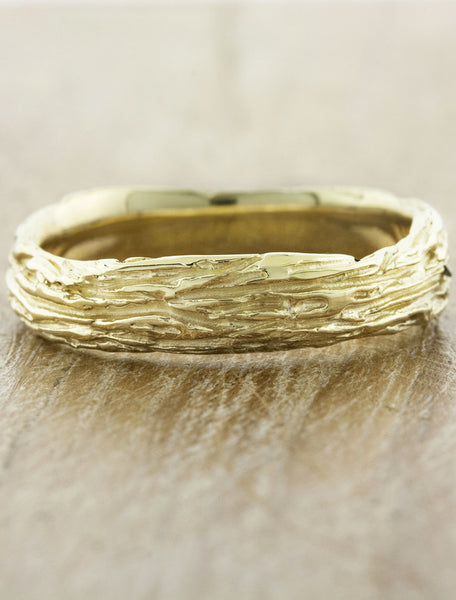 caption:Shown in 5mm width, 14k yellow gold