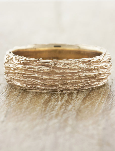 caption:Shown in 7mm width, 14k rose gold