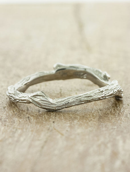 organic natural vine-like wedding band