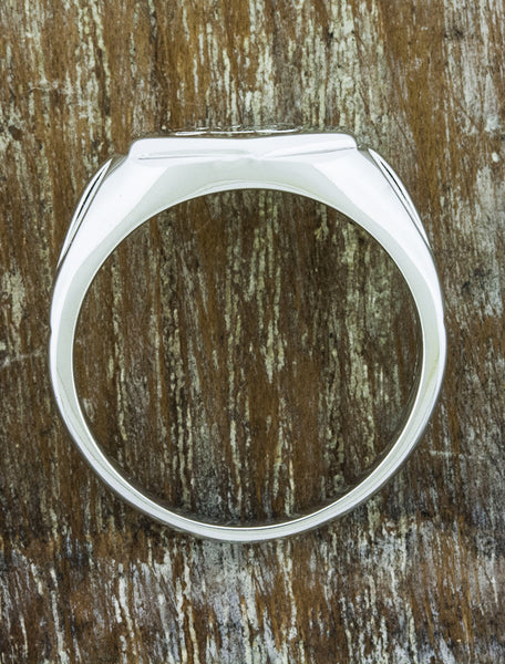 customized wedding band with initial