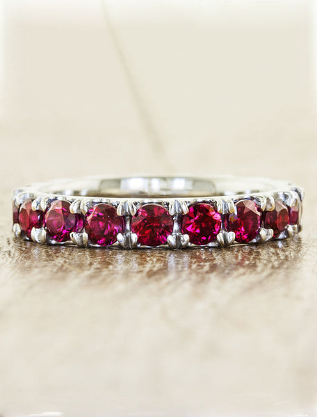 classic ruby eternity ring